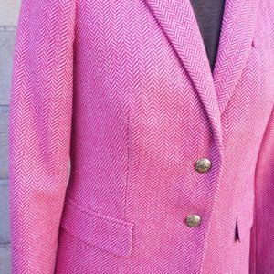 J. Crew Jackets & Coats - Bright Pink Spring Wool J. Crew